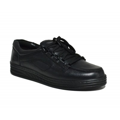 Men Casual Laced Office Shoes (Black)