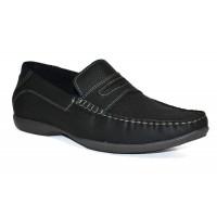 TSF Men's Light Weight Slip-On Loafer Shoes (Black)