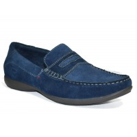 TSF Men's Light Weight Slip-On Loafer Party Shoes (Blue)
