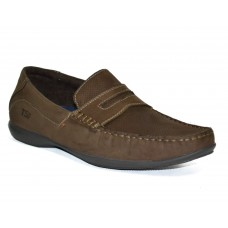 TSF Men's Light Weight Slip-On Loafer Office Shoes (Choco)