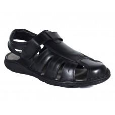 Men Stylish Black Leather Sandals