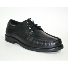 TSF Real Leather Stylish Office Formal  Shoes ( Black )