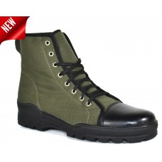 TSF Men's Leather Combat Boots (Green)