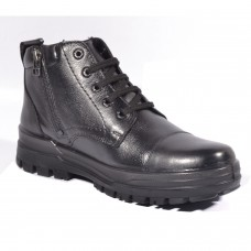 New Arrivals TSF Police Boot  with Zip (Black)