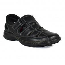 TSF Black Leather sandals For Men