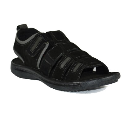 Men Stylish Black Leather Sandals