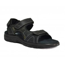 TSF Genuine Leather Sandals (Black)