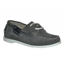TSF Girls Collage  Leather Shoe (grey)