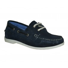TSF Girls Collage  Leathe Shoe (Navy)